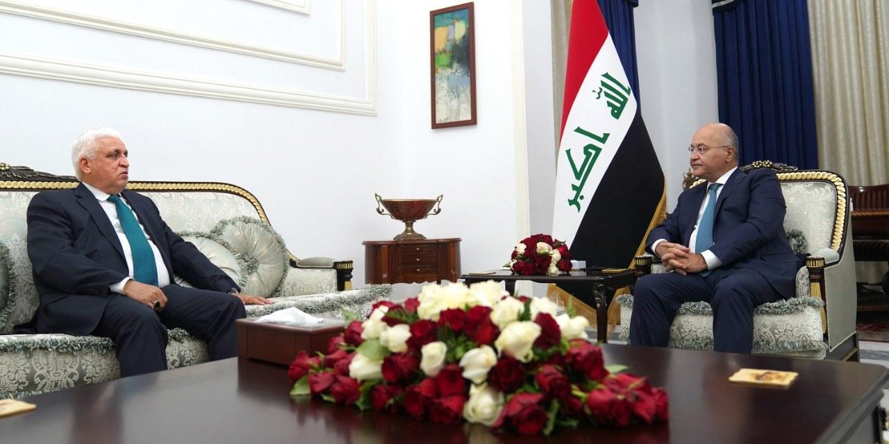 برهم صالح يستدعي فالح الفياض !السفير الامريكي يقدم الان استجوابا لوزير الدفاع العراقي بشأن قصف الاربعاء ونتائج زيارته لإيران